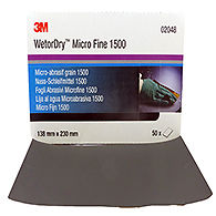 3M 02048 P1500 Wet & Dry Paper Pk 50 Sheets 138mm x 230mm