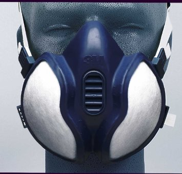 3M 06941 Disposable Fly Gas & Vapour Mask FFP1P2D