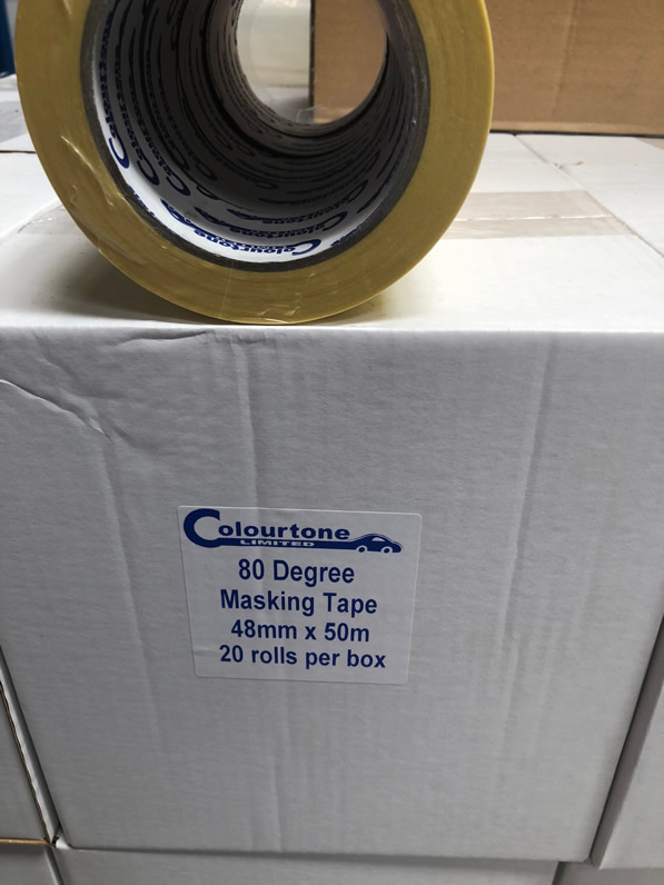 "Colourtone Masking Tape 80c 48mm-2""Box(20)Rolls MT-48"