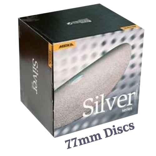 Mirka Q Silver Mini DA Sanding Disc 77mm Box 50