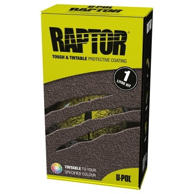 U-POL Raptor Liner Kit 1L Black RLB/S1