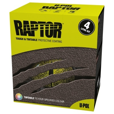 U-POL Raptor Liner Kit 3.8L Black RLB/S4
