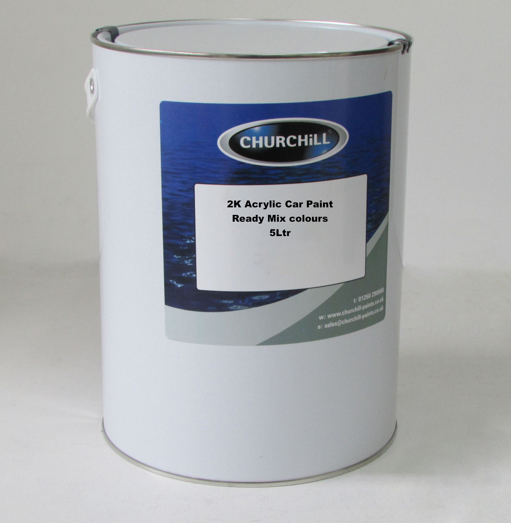 Churchill 5L 2K Ford Frozen White Direct Gloss Acrylic 0613