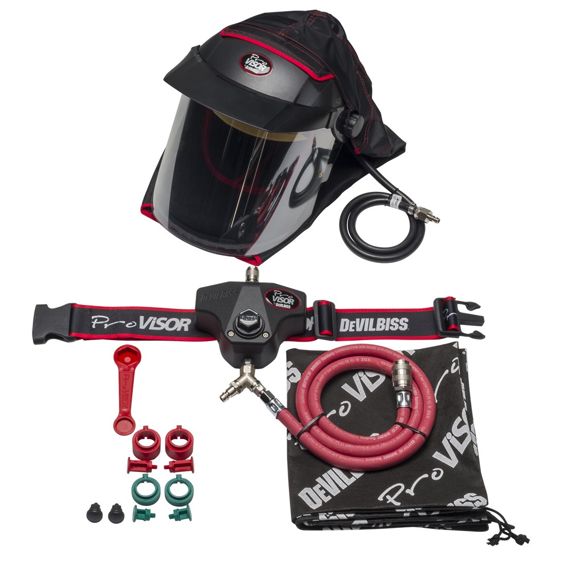 Devilbiss PROV-650 Air Fed Full Face Mask Kit