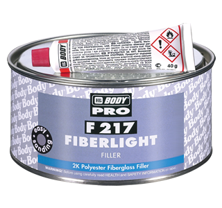 HB Body F217 Fibre Light Sandable Glass Fibre Filler-1L