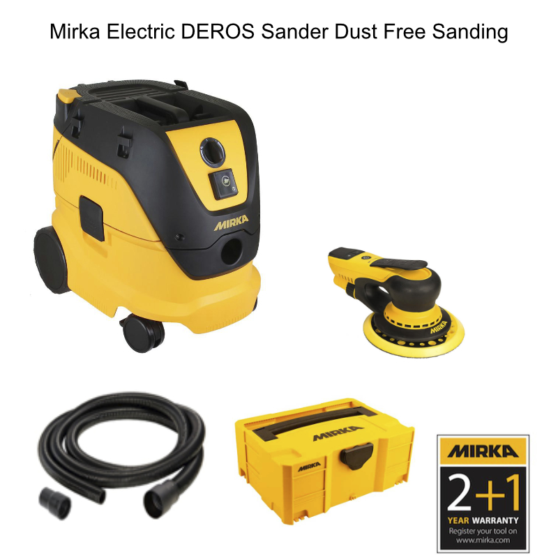 Mirka Electric DEROS Dust Free Sanding Promotion