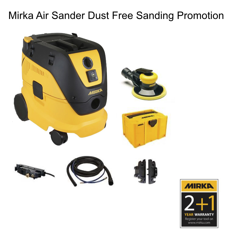 Mirka Air Sander ROS Dust Free Promotion